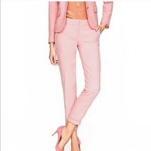 J. Crew Cafe Cuffed Capri in Pink Wool 8